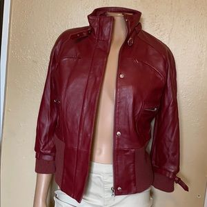 Bebe Jakes color Maroon size S leather